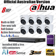 Dahua 8mp Kit Full Color Two-way Ttalk Ip Security Camera Hdw3849h-as-pv Pro Nvr