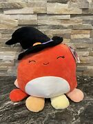 Squishmallows Official 2021 Halloween 12 Detra The Octopus Witch Plush