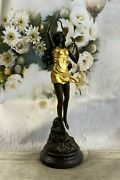 Handmade Signed Bronze Diana The Huntress Nude Sculpture Statue Mythical Deal