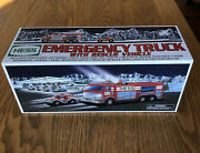 2005 Hess Emergency Truck With Rescue Vehicle_great Christmas Gift_new
