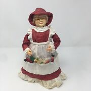 Vtg 11 Paper Mache Paper Crafted Mrs Claus Santa Christmas W/ Toys Tree Topper