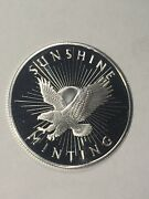1/2 Troy Oz .999 Fine Silver Round Sunshine Minting With Mint Mark Half Ounce