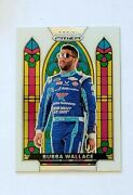 Bubba Wallace Stained Glass Sp White - 2020 Panini Prizm Racing 1/5