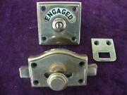 Excellent Quality Antique Bronze Vacant Engaged Privacy Toilet Lock
