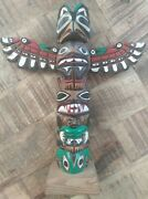 Ray Williams/hand-carved And Painted Wooden Totem Pole/native American/seattle/9