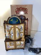 Vintage Enesco The Dream Keeper Lighted Animated Music Box W/ Box And Cord