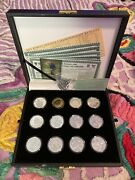 World Golf Hall Of Fame 11pc Silver Coin Collection In Box