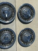 Chevy Wire Hubcaps 14andrdquo 3 Bar Spinner Wire Hubcaps