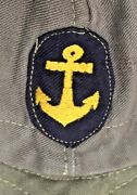 Imperial Japanese Navy Ijn Soft Cap -- Scarce Green And Black