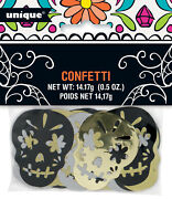 Large Halloween Day Of The Dead Foil Sugar Skulls Table Confetti Decorations 5cm