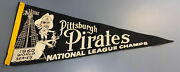 Vintage 1960 Pittsburgh Pirates National League Champions Pennant