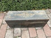 Antique Wooden Victorian Work Sewing Box For Mother Hand Made Painted Folk Art