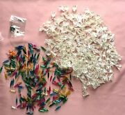 Vintage Lot Mini Christmas Light Flower Reflector 185 And Replacement Bulbs 200+