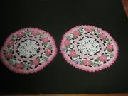 New Hand Crocheted Set Of 2 Doilies