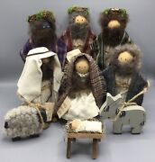 Lizzie High Dolls The Christmas Pageant Nativity Ladie And Friends - 10 Pieces