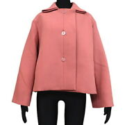Hermes Serie Button Bell Sleeve Short Jacket Outer Coat Apparel Clothing _38321