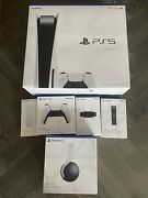 Sony Playstation 5 Ps5 Console Disc Version W/ 5 Games Bundle Free Fast Shipping