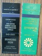 El Campo Texas Matchcovers Branding Iron And Windmill Empty Matchbook Covers -e