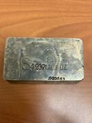 Vintage Placer Sierra Ps Hand Poured 49.39 Ounce Silver Bar - Rare