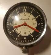 Vintage Airguide Marine Clock Nice Used Condition. Working And Keeps Time. 4.