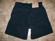 Vintage 95and039 Red Tab 550 Juniors High Waist Shorts Black Washed Sz 9 Usa