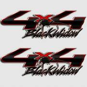 4x4 Truck Black Widow Spider Decal Sticker For Ford F-250 F250 Carbon Fiber Red