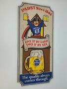Vintage Pabst Blue Ribbon Beer Wood Sign If By Land Two If By Sea The Quality