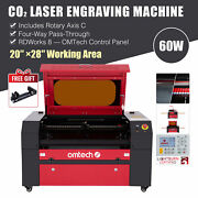 Omtech 60w 20 X 28 Inch Workbed Co2 Laser Engraver Cutter With Rotary Axis C
