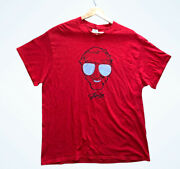 Stan Lee Marvel Delta Apparel Red Face T-shirt Size Xl Made In Mexico