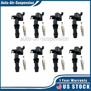 8ignition Coils Dg511and 8spark Plugs Sp515 Sp546 For Ford 4.6l 5.4l 6.8l Engine