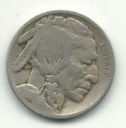 A Vintage Very Good 1919 P Buffalo Nickel Coin-old Us Coin-oct527