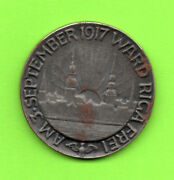 Latvia Lettland Russia Iron Medal Riga Capture By Germany Sep3 1917 723