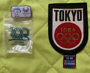 Tokyo 1964 Olympics Embroidered Patch And 2020 Paralympic Enamel Pin - Israel Team