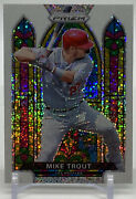 2021 Panini Prizm Baseball White Sparkle Mike Trout Stained Glass Rare Angels