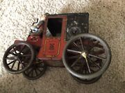 Antique Fabrik Marke Wind Up Coach And Driver Toy
