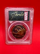 2017 Pcgs Pr69dcam First Day Of Issue 1oz Gold Spiderman Coin Signed By Stan Lee