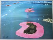 Christo And Jeanne-claude Surrounded Islands Miami 1983 Original Signed By Hand