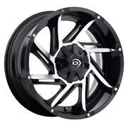 Vision 422 Prowler 20x9 8x170 Offset -12 Gloss Black Machined Face Qty Of 4