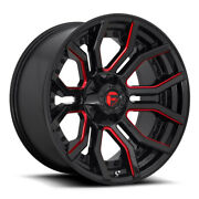 Fuel D712 Rage 22x10 5x127/5x139.7 Et-18 Gloss Black Red Tinted Clear Qty Of 4