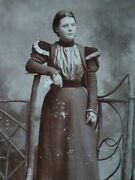 Pretty Woman Antique Photo Early 1900s Silky Sci Fi Type Dress Time Traveler