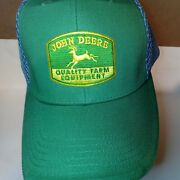 John Deere Tractor Ball Cap Hat Green Fitted Embroidered 🌄