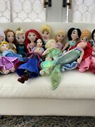 Disney Princess Plush Dolls Lot Of 21 22 Inches 18 Inches 12 Inches