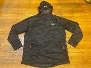Under Armour Hooded Pullover Jacket Menand039s Xl Loose 100 Polyester Black