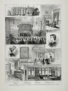 Royal College Of Art Music Science, Queen Alexandra's House 1880s Antique Print