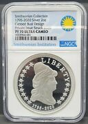 1795-2020 Ngc Pf 70 Ultra Cameo Silver 2oz. Capped Bust Design