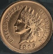 1895 Indian Head Penny 4 Diamonds Gorgeous Pennycleaned