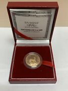 2000 Sa Mint 1/4oz Proof South Africa Gold Krugerrand Coin W/ Box And Coa