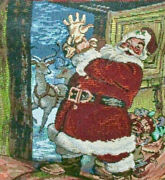 Christmas Purse Santa Tapestry Bag Highly Detailed Festive Fun Must See