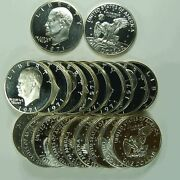 1971-s Eisenhower One Dollar 40 Proof Silver Roll 20 Us Coins
