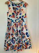Anthropologie Plenty Dresses By Tracy Reese White Floral Lined Dress Size 6